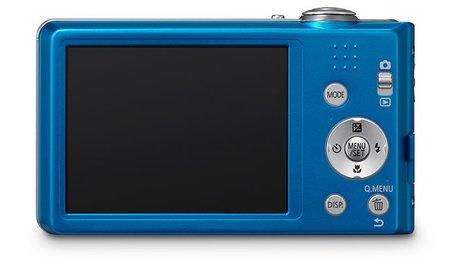 Panasonic Lumix DMC-FS16 azul vista trasera