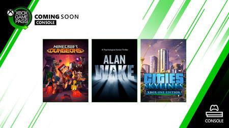 Alan Wake y Minecraft Dungeons entre los nuevos juegos que se unirán a Xbox Game Pass en Xbox One y PC