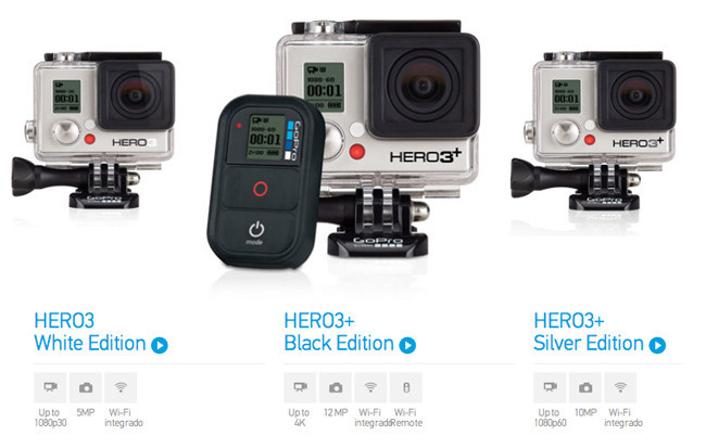 gopro hero3 la nueva versi n de c maras de acci n de gopro. Black Bedroom Furniture Sets. Home Design Ideas