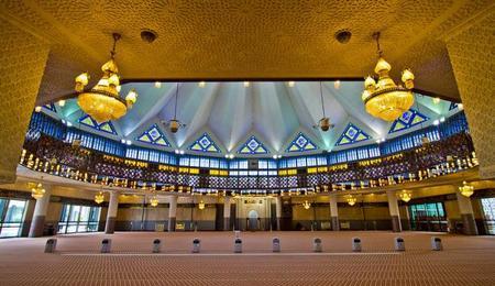 La Mezquita Nacional de Malasia en Kuala Lumpur