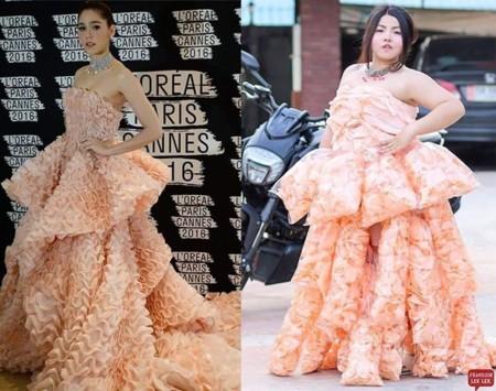 Puedes gastarte un dineral para impresionar en Cannes o puedes vestirte con pan de gambas (como esta diseñadora)