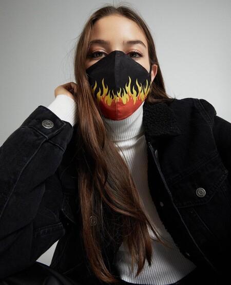 Siete mascarillas de tela de Bershka por menos de 2 euros (gracias a las rebajas 2021 es posible)