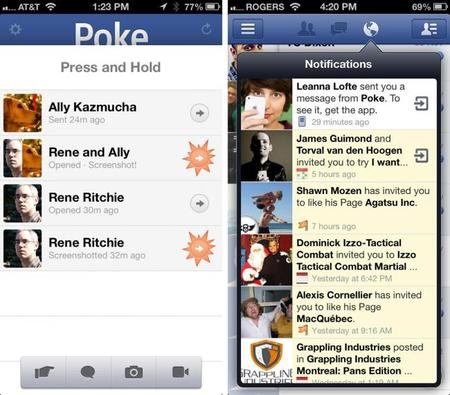 """Facebook retira de la App Store aplicaciones """"Camera"""" y """"Poke"""""""