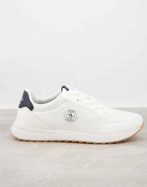Zapatillas de deporte blancas retro de Original Penguin
