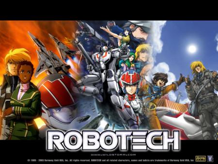 Imagen con los protagonistas del anime Robotech