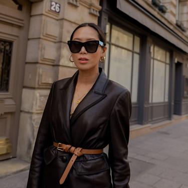 El total look de piel es la tendencia más buscada del otoño: 13 looks vistos en las calles que vienen cargados de cuero