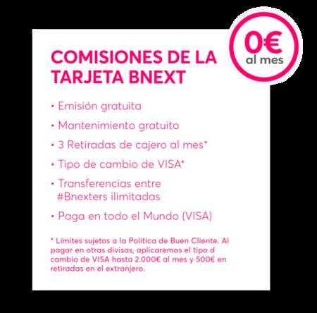 Comisiones Bnext