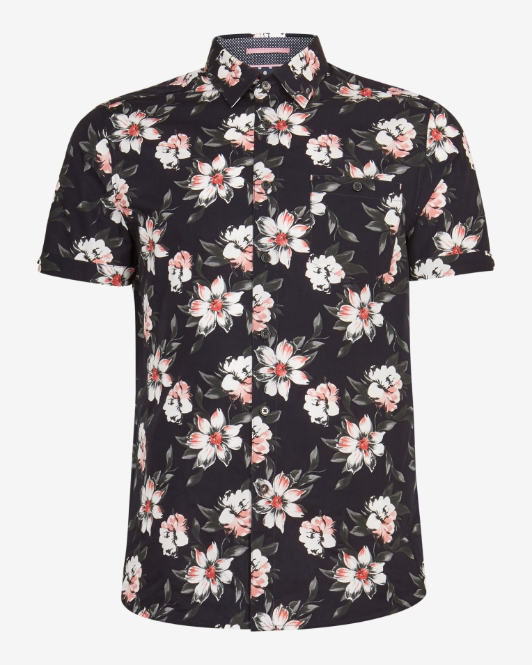 Camisa en manga corta color negro modelo Philip