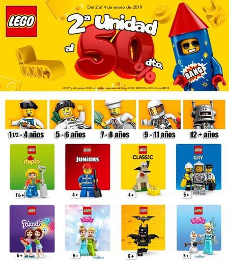 Toys `r us nos ofrece un 50% de descuento en la segunda unidad Lego