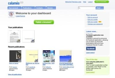Calameo, convierte tus archivos ofimáticos en publicaciones digitales online