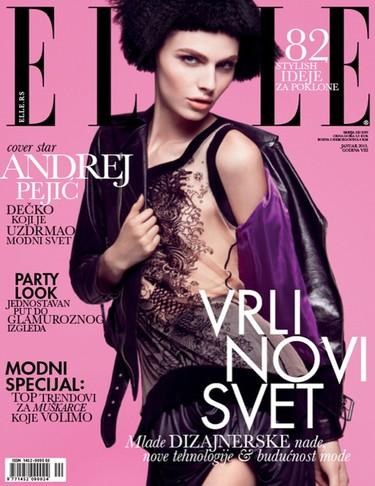 Andrej Pejić se hace con su primera portada de Elle