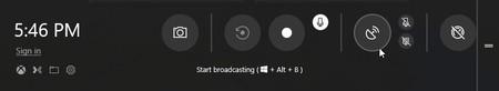 Nueva barra de juegos de Windows 10