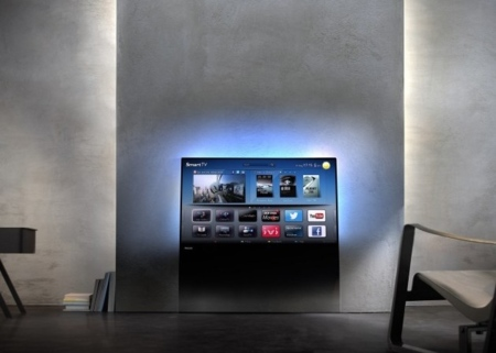 Philips DesignLine, un televisor que sale de un cristal