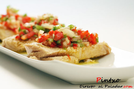 aperitivo de salpicón de atún
