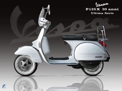 Vespa PX 125 30 aniversario, la última