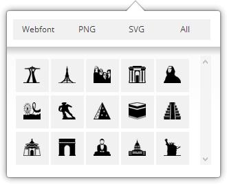 Selector de iconos