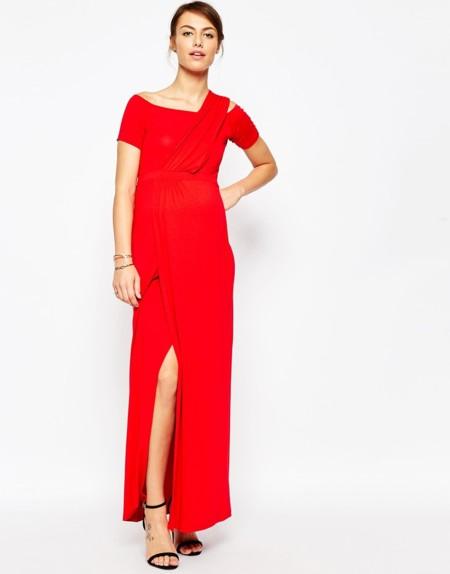 Asos Maternity Maxi Vestido Rojo