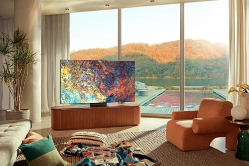 """Neo QLED: Samsung mejora la tecnología QLED en sus Smart TV 4K y 8K de 2021 con mejores negros, diseño """"sin marcos"""" y nuevo control sin pilas"""