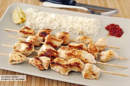 Receta de brochetas de pollo peruano