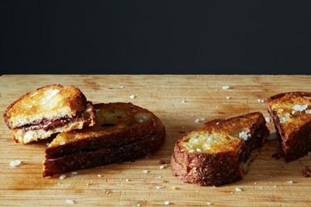 Delicioso sándwich de chocolate extracrujiente