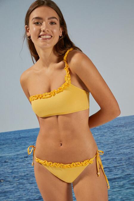 Bikini Amarillo Volantes
