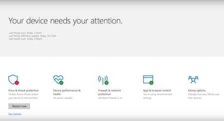 Windows Defender Security Center 1