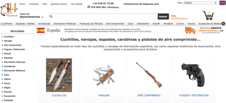 Página principal de Aceros de Hispania