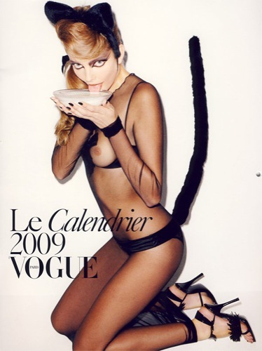 El calendario más erótico de Vogue para 2009, al estilo pin-up