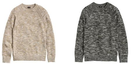 H&M jersey jaspeado gris
