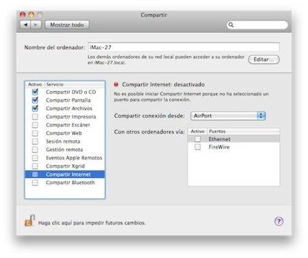 Crea un router wifi usando tu Mac y un iPhone