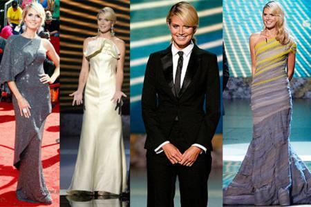 Los diferentes looks de Heidi Klum en los Premios Emmy