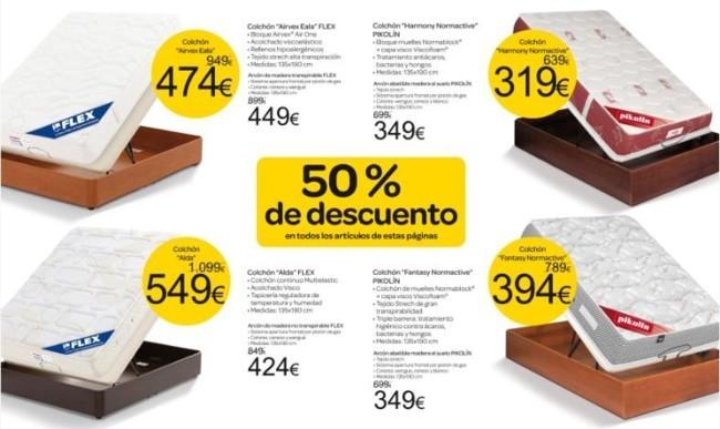 ofertas de colchones en Carrefour