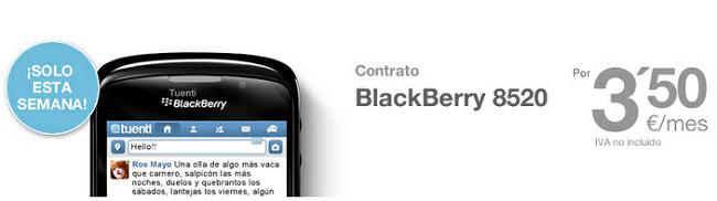 Blackberry 8520 por 84 euros en Tuenti