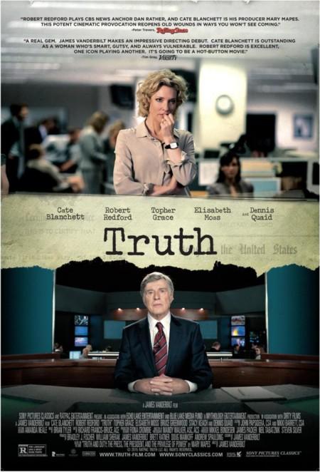 Poster de Truth con Cate Blanchett y Robert Redford