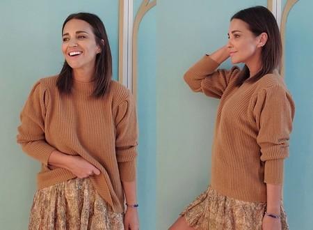 Paula Echevarría luce el combo de falda de flores y jersey favorito de la primavera y te damos seis opciones para copiarlo