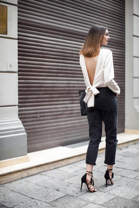 conjunto de pantalón y blusa para fiestas