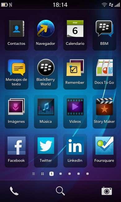 aplicaciones bb10