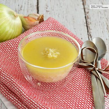 Sopa de arroz y jengibre. Receta para temporada de frío y evitar resfriados