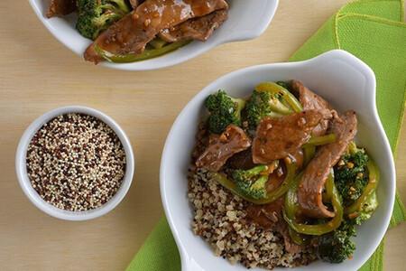 Fajitas de res en salsa de soya. Receta fácil y rápida
