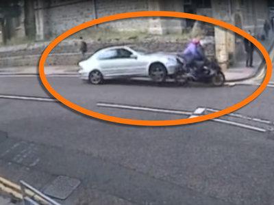 12 meses de cárcel y 30 sin carnet para el conductor que atropelló deliberadamente a una moto (vídeo)