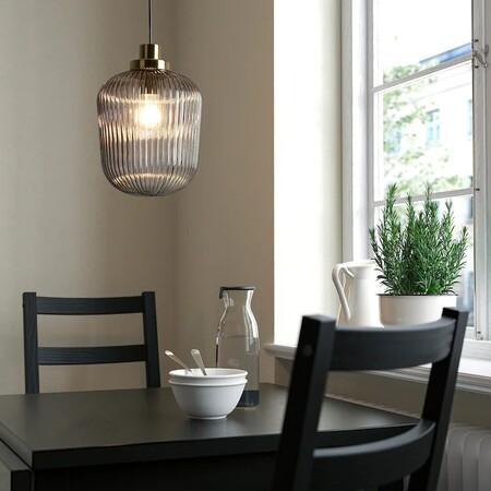 Solklint Lampara Techo Laton Vidrio Transparente Gris 0842307 Pe778950 S5