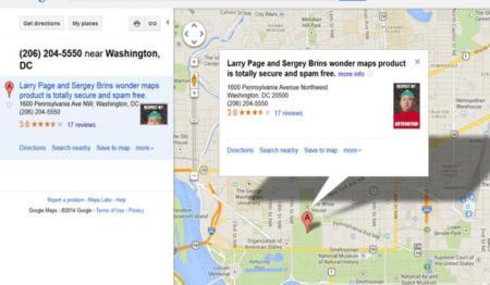 Ejemplo Listado Falso Google Maps