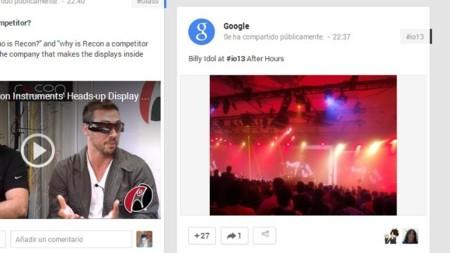 Las tarjetas de las novedades de Google+