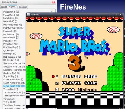 Firenes, emulador de Nintendo directamente desde Firefox