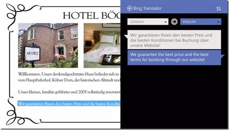 Bing Translator integrado en el sistema