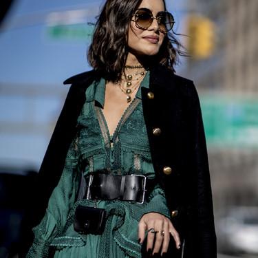 El verde esmeralda invade el street style de la NYFW