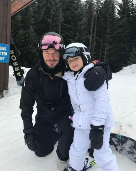 Los Beckham se nos fueron a la nieve, y Brookyn casi se nos desgracia