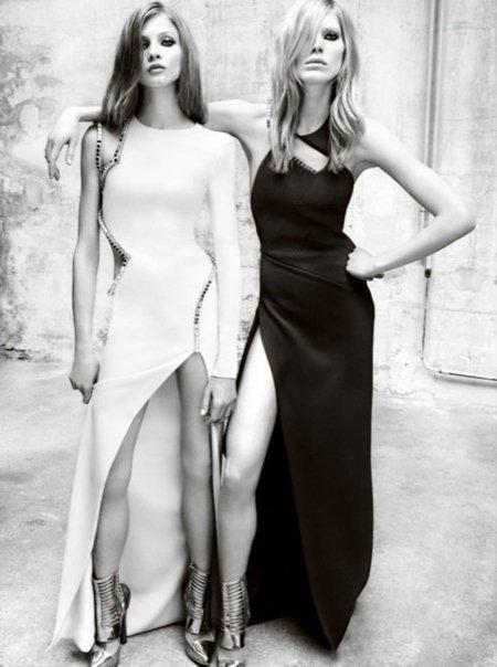 Versace, campaña Otoño-Invierno 2010/2011 con Iselin, Anna y Valerija: la necesidad de un buen bocata III