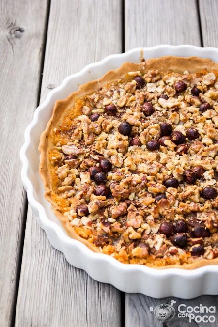 Tarta Sueca De Manzana Con Nueces Almendras Y Avellanas Cocinaconpoco Com 001