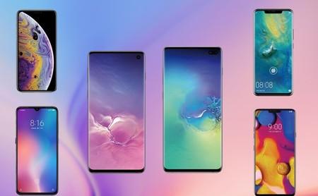 Comparativa de los mejores gama alta: Samsung Galaxy S10 vs LG V50 vs Xiaomi Mi 9 vs iPhone XS vs Xperia 1 y más